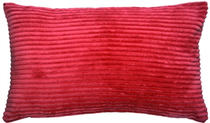Wide Wale Corduroy Raspberry Red 12x20 Throw Pillow