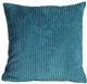 Wide Wale Corduroy 18x18 Marine Blue Throw Pillow