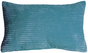Wide Wale Corduroy 12x20 Marine Blue Throw Pillow