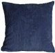 Wide Wale Corduroy 22x22 Nautical Blue Throw Pillow