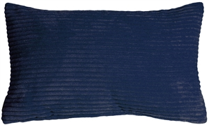 Wide Wale Corduroy Nautical Blue 12x20 Throw Pillow