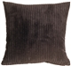 Wide Wale Corduroy Earth Brown 22x22 Throw Pillow
