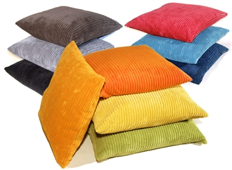 Wide Wale Corduroy 18x18 Throw Pillows