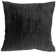 Wide Wale Corduroy Black 18x18 Throw Pillow