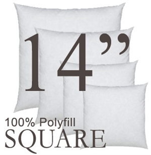 14x14 Square Polyfill Throw Pillow Insert