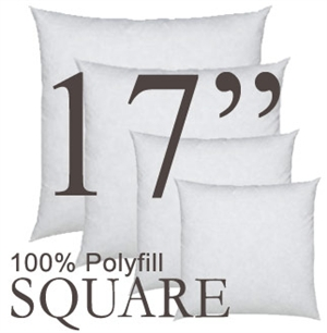 17x17 Square Polyfill Throw Pillow Insert