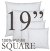 19x19 Square Polyfill Throw Pillow Insert