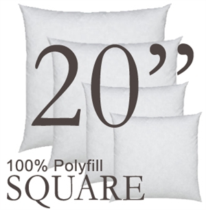 20x20 Square Polyfill Throw Pillow Insert