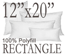 12x20 Rectangular Polyfill Throw Pillow Insert