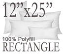"12""x25"" Rectangular Polyfill Throw Pillow Insert"