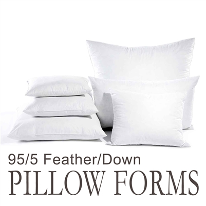 "14""x20"" Rectangular Feather Throw Pillow Insert"