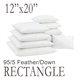 "12""x20"" Rectangular Feather Down Pillow Form"