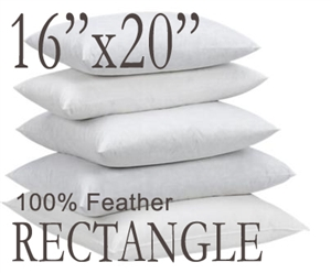 "16""x20"" Rectangular Feather Throw Pillow Insert"