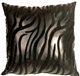 Black Tiger Square Faux Fur Throw Pillow