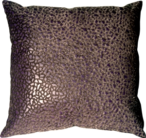 Pebbles in Purple 18x18 Faux Fur Throw Pillow