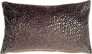 Pebbles in Purple 12x20 Faux Fur Throw Pillow
