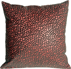 Pebbles in Red 12x12 Faux Fur Throw Pillow
