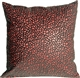 Pebbles in Red 18x18 Faux Fur Throw Pillow