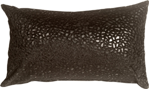 Pebbles in Black 12x20 Faux Fur Throw Pillow