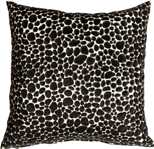 Pony Spots Black and White 16x16 Throw Pillow