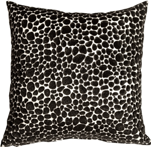 Pony Spots Black and White 20x20 Throw Pillow