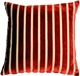 Monroe Velvet Stripes 22x22 Red Throw Pillow