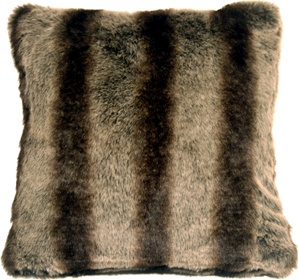Amur Wolf Faux Fur 20x20 Throw Pillow