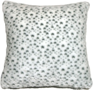 Snow Leopard Faux Fur 20x20 Throw Pillow