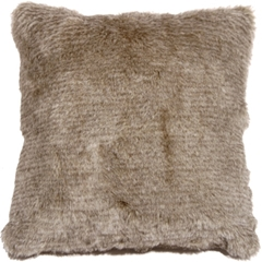 Tundra Hare Faux Fur 20x20 Throw Pillow