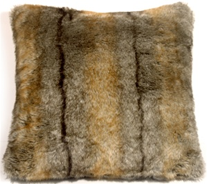 Aspen Coyote Faux Fur 20x20 Throw Pillow