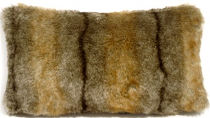Aspen Coyote Faux Fur 12x20 Throw Pillow