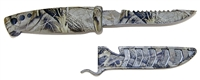 Bait knife or utility knife tool for fishing and every day use while working and enjoying the outdoors.  Camo, american flag, many colors and styles to fit any angler.