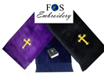 pastor towels, customized pastoral towel, pastoral towels, custom embroidered pastoral towels, clergy  towels, minister towels, apostle towels, preacher towels, custom embroidered towels,gifts, pastor, preaching towels, ordination gifts
