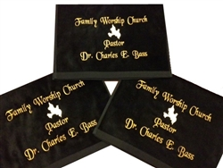 Pastoral Towel, Customized Pastoral Towels, Custom Embroidered Pastoral Towels, Embroidered Towels, Preaching Towels, clergy towels, pastor towels, ordination gifts, ministry installation gifts