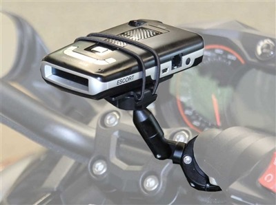 Motorcycle Radar Detector Motorcycle Handlebar Mount Kit with 3 inch extension