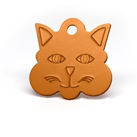 Large and mini cat face pet tags in multiple colors