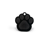 dog paw pet tags in multiple colors