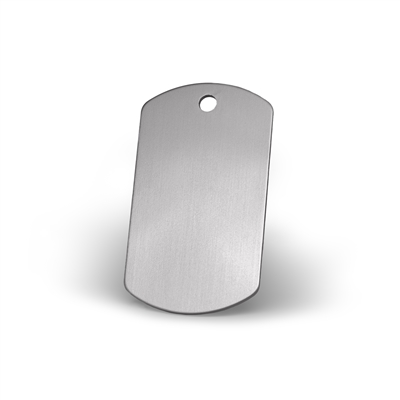 dog tag pet tags in glimmering stainless steel