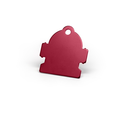 Large and mini fire hydrant pet tags in multiple colors