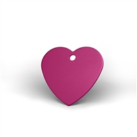 Large and mini heart pet tags in multiple colors