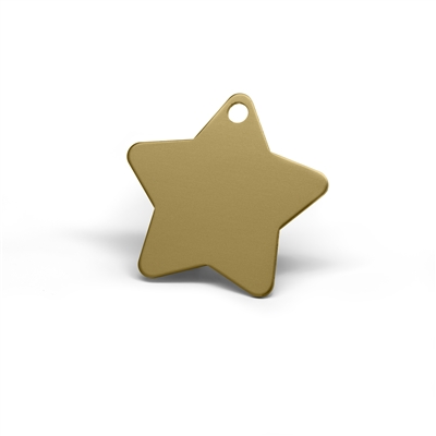 star pet tags in multiple colors