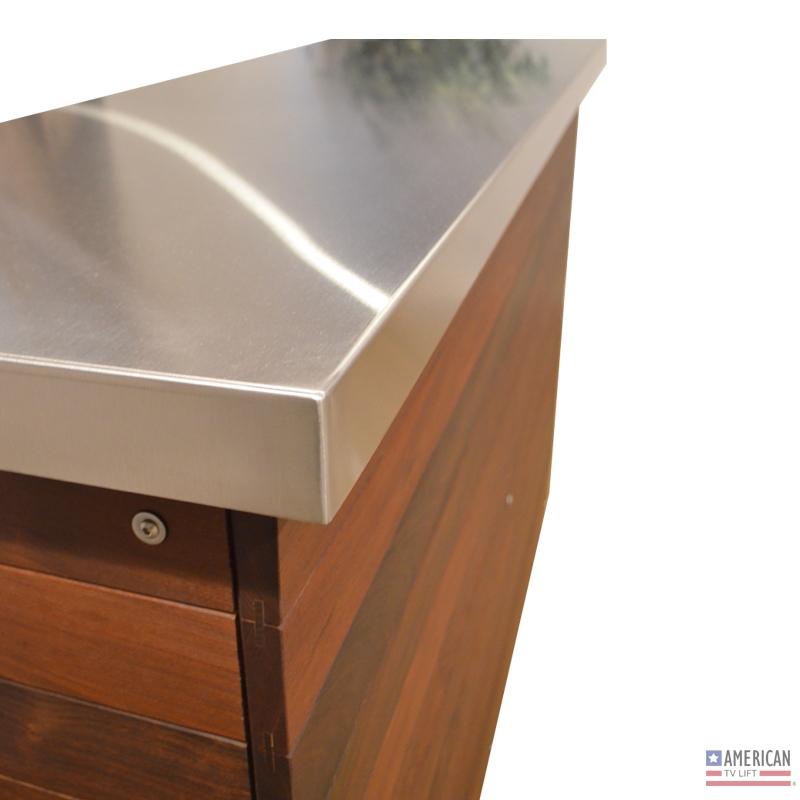 Modern Ironside Outdoor TV Lift Cabinet