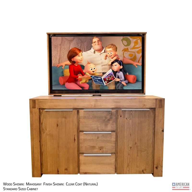 Rustic Gunnison TV Lift Cabinet