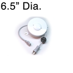D200725-1 Retractable Cable Reel - Medical Grade - White