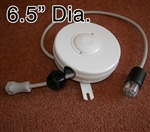 D201211-1 Medical Grade White Retractable Cable Reel