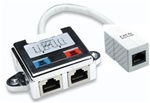 Shielded rj45 2 port doubler cat5 jack splitter by Lightcast Networks