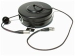 retractable XLR audio Microphone Cable Reel - 40' foot - Audio Reels Lightcast 40' foot
