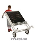Radar Speed Displays - Portable Solar with Battery, Wheels and 8 foot pole