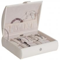 White Ivory Leather Watch Case