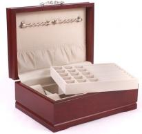 Large Solid Cherry Wood Jewelry Box